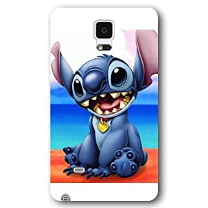 UniqueBox Customized Black Frosted Samsung Galaxy Note 4 Case, Lilo and Stitch Samsung Note 4 case