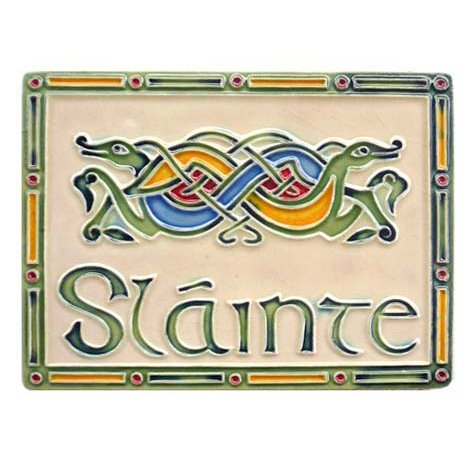 (Slainte Ceramic Wall Plaque )