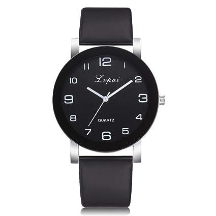 Reloj TINGSU para mujer, correa de cuero de cuarzo casual, analógico, reloj de