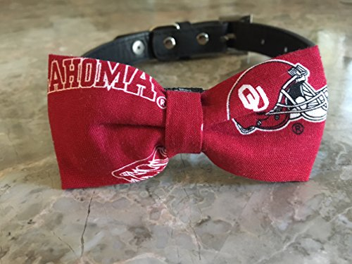 University of Oklahoma Dog Bow Tie by Creations by Glo