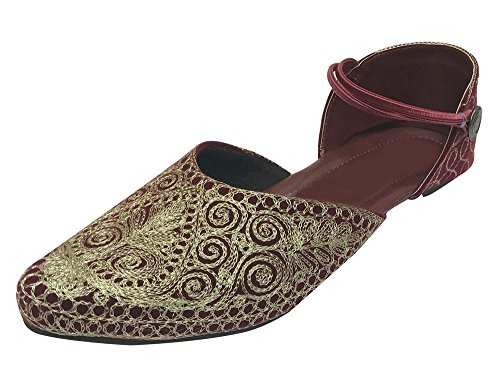 Step n Style Indian Shoes Punjabi Jutti Bridal Shoes Khussa Shoes Mojari Saree Jooti by Step n Style