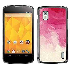 King Case - FOR LG Nexus 4 E960 - Art Colourful - Caja protectora de pl??stico duro Dise?¡Àado