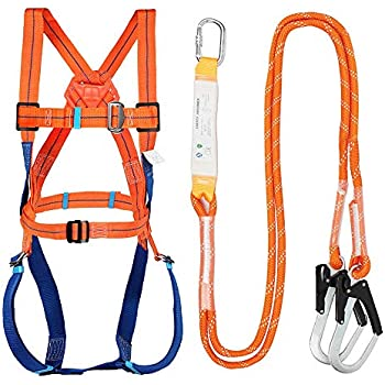 Fall Protection Safety Harness Kit W 3 D Rings For Lanyard