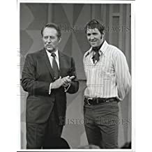 """1970 Press Photo Art Linkletter and Son on The Zane Grey Theater """"The Bible Man"""""""