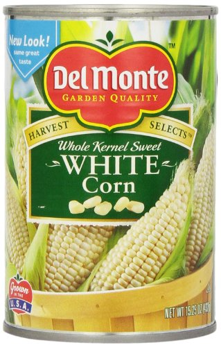 Del Monte Vegetable White Corn, 15.25-Ounce Packages (Pack of 12)