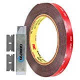 CANOPUS Double Sided Tape, (0.5 in x 15 ft), Heavy