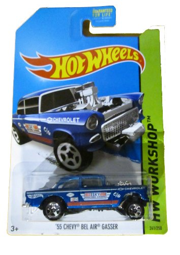 55 Chevy Body (Hot Wheels 2014 HW Workshop '55 Chevy Bel Air Gasser 241/250, Blue.)