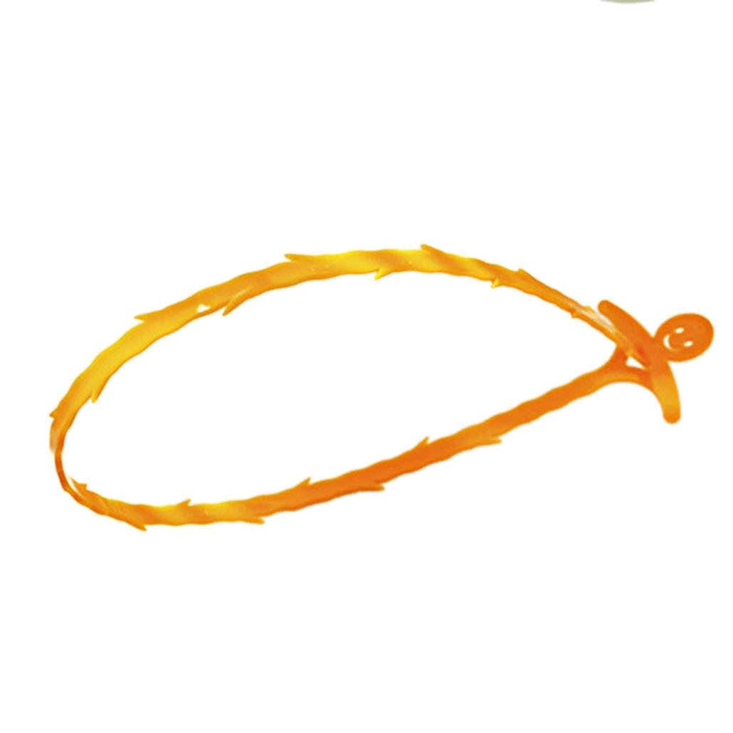 LiPing Sink Cleaning Hook Home Kitchen Bathroom Floor Drain Sewer Dredge Device Small Tools Drain Sewer Dredge (Orange)