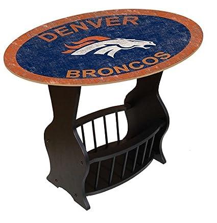 Fan Creations N0818 DEN Denver Broncos Distressed End Table