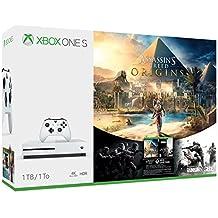 Xbox One S Consola de 1 TB + Juegos Assassin's Creed Origins, Rainbow Six Siege - Bundle Edition