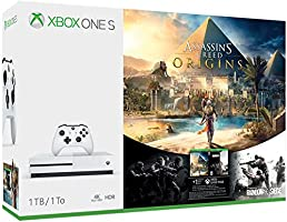 Xbox One S Consola de 1 TB + Juegos Assassin's Creed Origins, Rainbow Six Siege - Bundle Edition