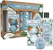 Love Beauty and Planet Spa Body Gift Set Body Wash & Bath Bomb Coconut Water & Mimosa Flower Vegan,