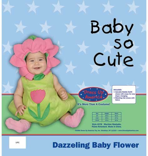 Dazzling Baby Flower Costume Set - Size 6-12 Mo. by Dress Up America