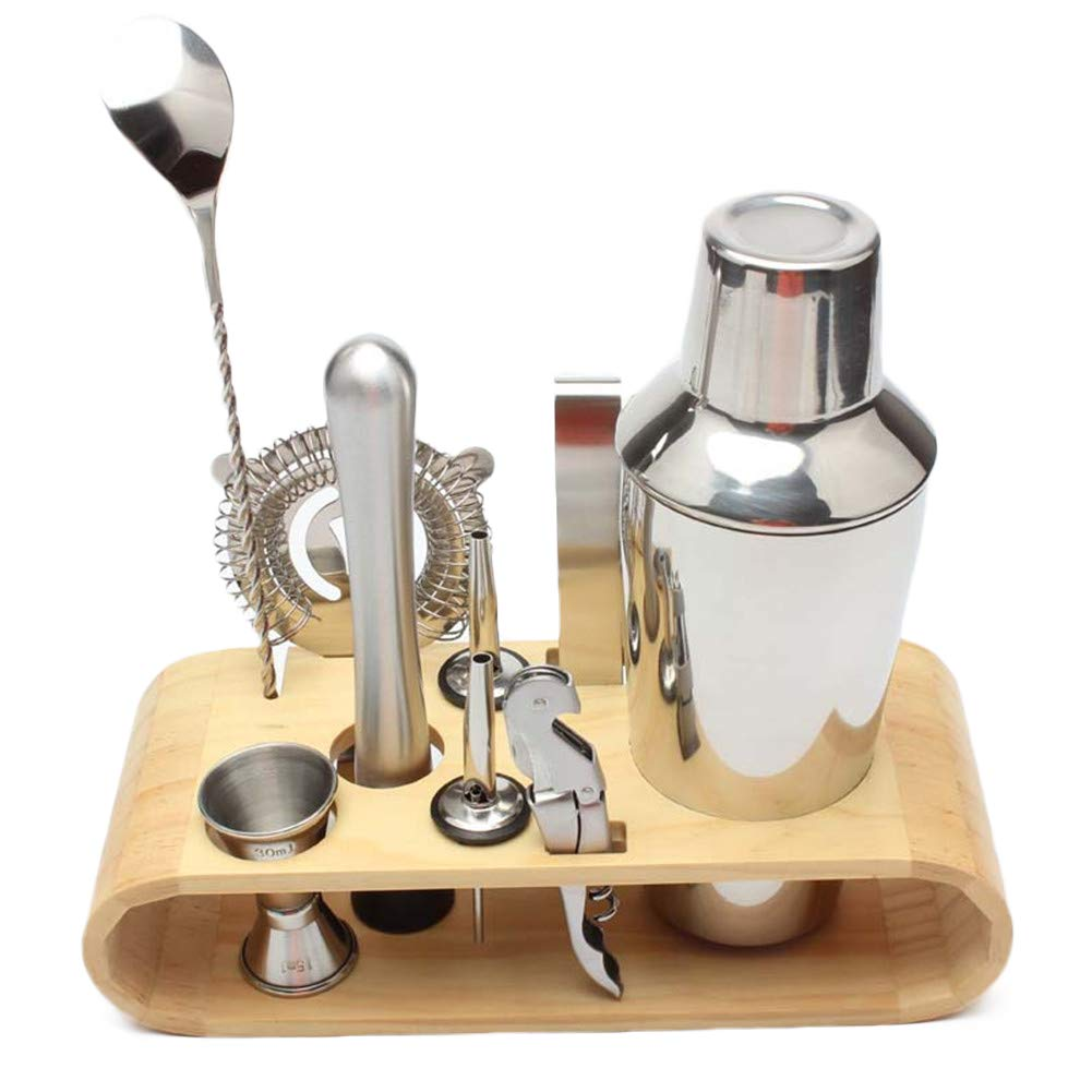 26oz Stainless Steel Cocktail Shaker Bar Set with Accessories Professional Stainless Steel Bar Tools