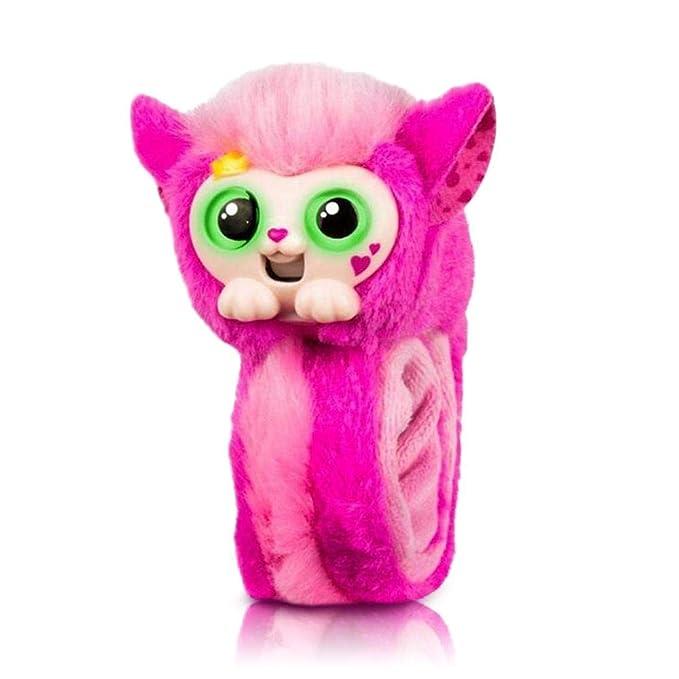 leegoal Wrapples Juguetes de Peluche Interactivos para Niños,Brazaletes Slap con Mono Furry Animal,Muñeca con Ojos Grandes,Electrónicos Juguetes Regalos ...