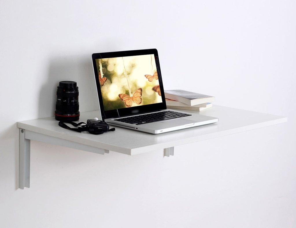 クリエイティブ壁掛け折り畳みテーブルコンピュータデスク壁掛けダイニングテーブルカラーサイズオプション ( 色 : 白 , サイズ さいず : 80*50cm ) B07B3PL56G 80*50cm|白 白 80*50cm