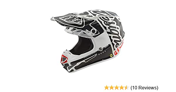 2018 Troy Lee Designs SE4 Polyacrylite Factory Helmet-White-L 109008104