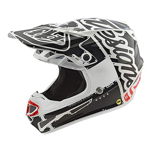 Troy Lee Designs Adult Polyacrylite SE4 Factory | Offroad | Motocross | Helmet (Medium, White)