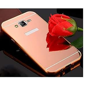 Metal Rhinestone de creazy® Marco Pc Espejo atrás carcasa para Samsung Galaxy J5(2016)