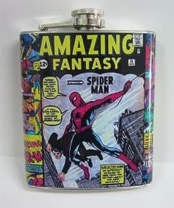 Retro Spiderman Fantasy 7 oz Stanless Steel Flask