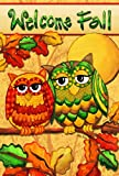Toland Home Garden Fall Owls House Flag 109684
