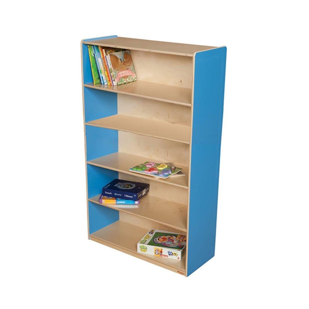 Wood Designs Kids Play Toy Book Plywood Organizer Wd12960B Blueberry Bookshelf, 60''H
