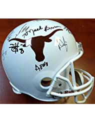 2005 National Champions Texas Longhorns Autographed Full Size Helmet With 20 Signatures Including Vince Young & Mack Brown PSA/DNA