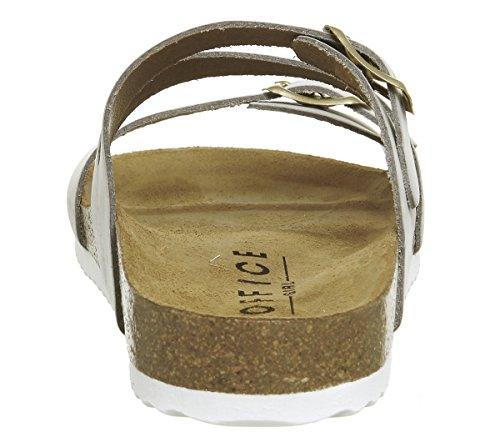 Office Women's Bounty Open Toe Sandals Grey Nubuck X3Bi8E