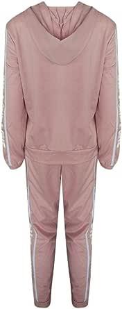 Fanzd Fashion Women Casual Stripe Zipper Long Sleeve Pullove Sport Tops+Long Pants Set