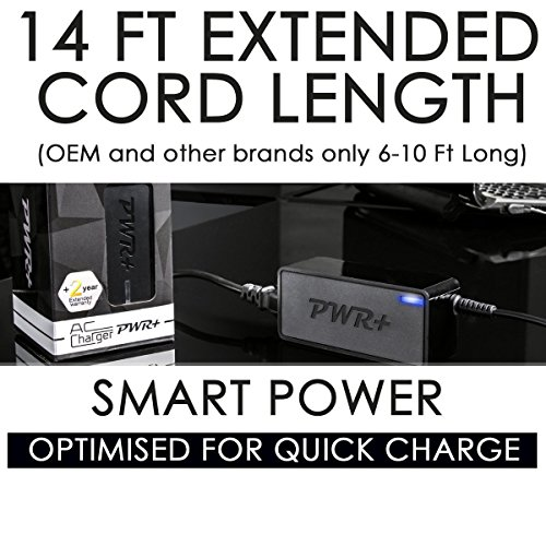 Pwr+ 120W Extra Long 12 Ft AC Adapter Laptop Charger for Panasonic Toughbook 52 53 74 31 C1 F9 S10 19; H1 Field, Health; H2; U1 Essential, Ultra; CF-19A CF-19AHUAX1M; Mil-461f Power Supply Cord