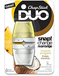 ChapStick DUO (Tropical Pineapple & Fresh Coconut Flavors...