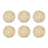 DII Woven Paper Round Decorative Placemat or Charger for Holidays, Occasions, and Decor, 5-Inch, Taupe, Set of 6