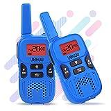 Walkie Talkies for kids, 22 Channel 2 Way Radio 3 Miles FRS/GMRS Handheld Mini Walkie Talkies for Kids, Toys for 3 4 5 6 7 8+ Old Kids (Blue)