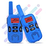 #8: Walkie Talkies for kids, 22 Channel 2 Way Radio 3 Miles FRS/GMRS Handheld Mini Walkie Talkies for Kids, Toys for 3 4 5 6 7 8+ Old Kids (Blue)