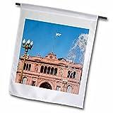3dRose Danita Delimont - Architecture - Fountain in Plaza de Mayo with Casa Rosada, Buenos Aires, Argentina - 18 x 27 inch Garden Flag (fl_258291_2)