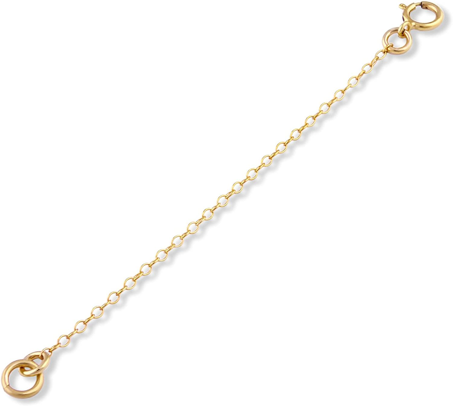 """14k Gold Filled 1mm Necklace Extender Chain 1"""", 2"""", 3"""", 4"""", 5"""", 6"""""""