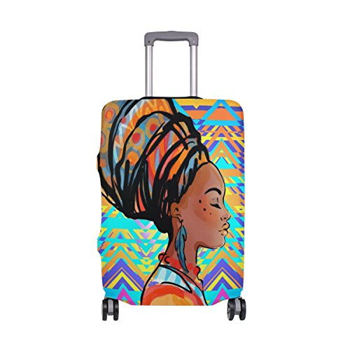 Cheap ALAZA Luggage Covers Beautiful African Woman Luggage Covers Protector Spandex Fit 18-32 inch