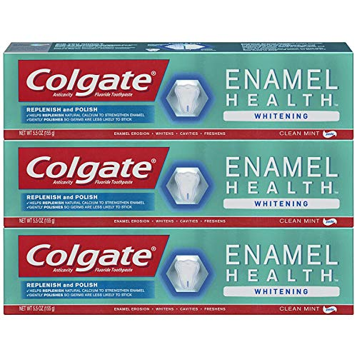 Colgate Enamel Health Whitening Toothpaste - 5.5 ounce (3 Pack)