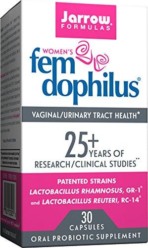 Jarrow Formulas Fem-Dophilus, 5 Billion Organisms Per Cap, for Vaginal and Urinary Tract Health, 30 Count (Cool Ship, 3 - 30 Dophilus Fem Caps