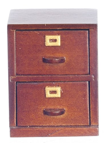 Dollhouse Miniature Filing Cabinet (Small Miniature Cabinet)