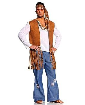 Horror-Shop Disfraz de hippie para hombre: Amazon.es: Juguetes y ...