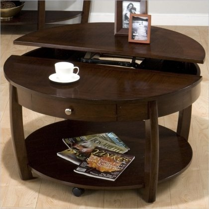 Amazoncom Jofran Round LiftTop Cocktail Table Kitchen Dining