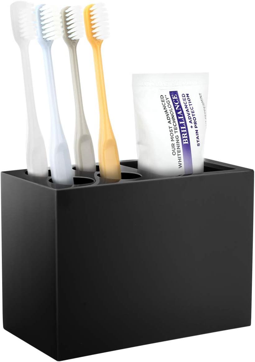 Organisateur Salle de Bain pour Rasoir Dentifrice Support de Brosse /à Dents /Électrique en R/ésine avec 3 Fentes Encre Gris Luxspire Porte Brosse /à Dents Distributeur de Dentifrice Hygi/énique