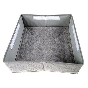 #1 Leisial/™ 30 Rejilla Caja de Almacenaje para Armarios Ropa Interior Calcetines Corbata Caj/ón Organizador Cesta Bras Gris