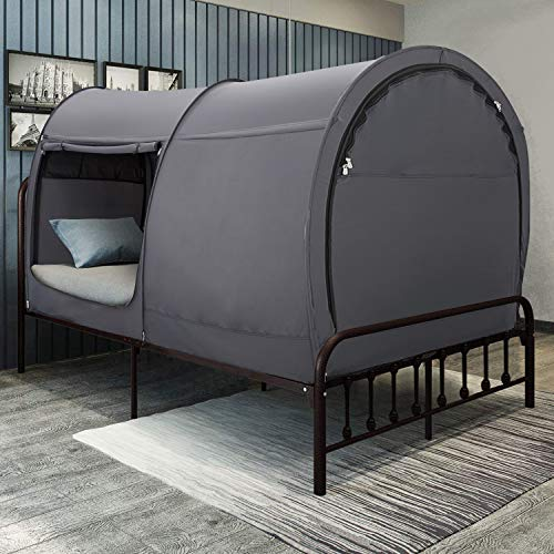 Leedor Bed Tent Dream Tents Bed Canopy Shelter Cabin Indoor Privacy Pop Up Warm Breathable Twin Size...