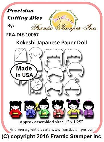 (Frantic Stamper Precision Die - Kokeshi Japanese Paper Doll)
