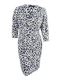 Lauren Ralph Lauren Womens Plus Ruched Sheath Wrap Dress