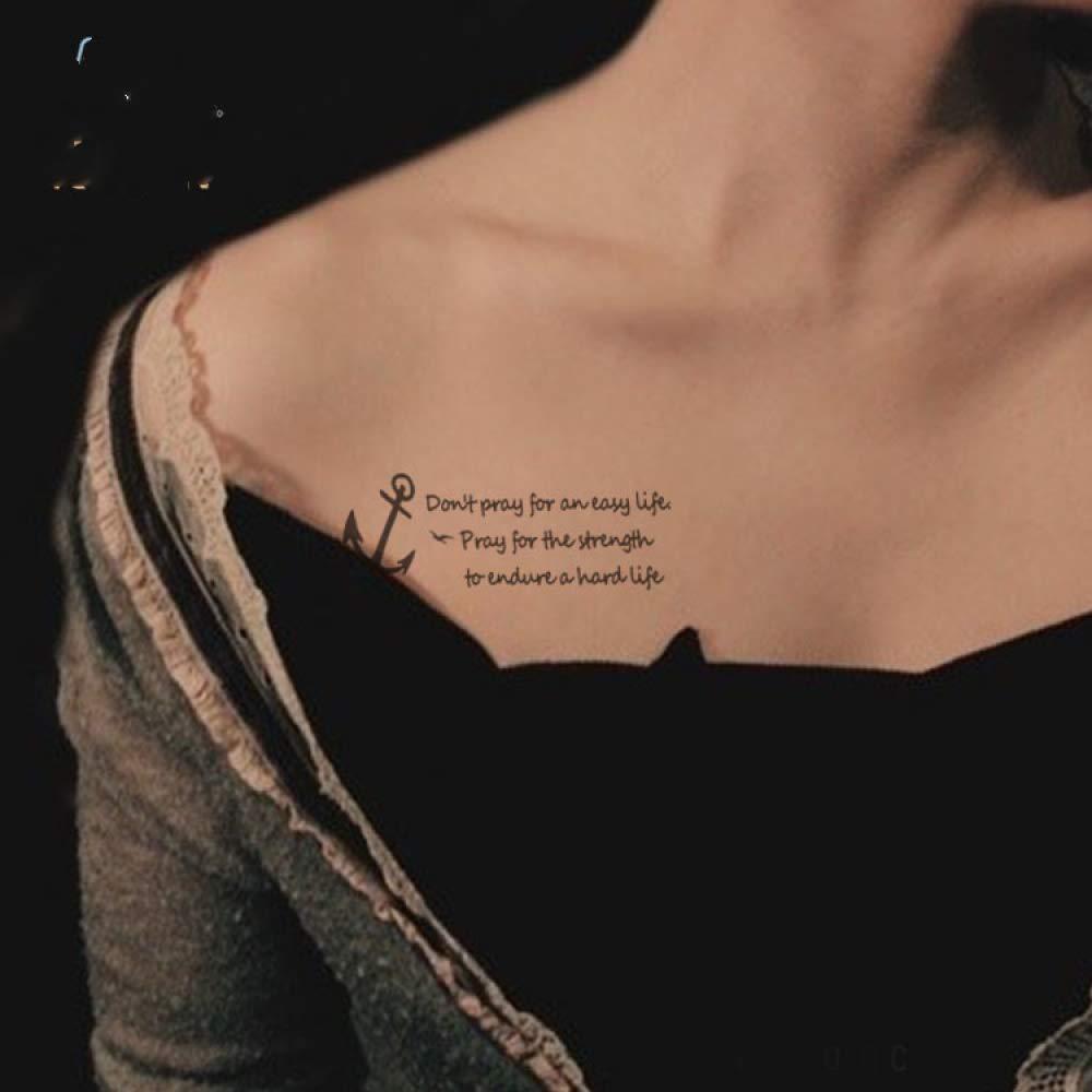 adgkitb 5piezas Letras Cotizaciones Etiqueta engomada del Tatuaje ...
