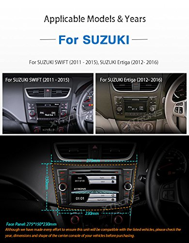 XTRONS 7 Inch HD Digital Touch Screen Car Stereo In-Dash DVD Player with GPS CANbus Screen Mirroring for Suzuki Swift Ertiga Kudos Map Card Included by XTRONS (Image #3)