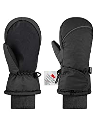 Andake Kids Ski Mittens Gloves Winter Warm Snow Mittens for Girls Boys Children Gift